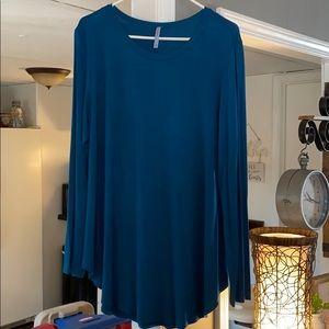 Azules long sleeve tunic matching printed leggings